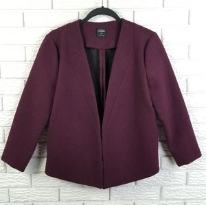 Kate Spade Saturday Behind the Seams Blazer M Plum